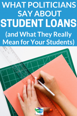 In the lead up to an election year, elected official talk a lot about student loans, but don't believe every sound bite.