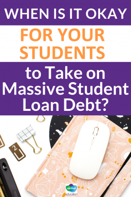 The story of one young woman who has taken on huge student loan debt but with a solid plan to repay everything in less than two years. Could this work for your students?