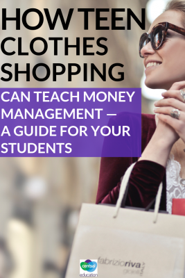 Shopping with parents can be embarassing as a teen. But there's ways to give kids freedom, while teaching financial literacy at the same time.