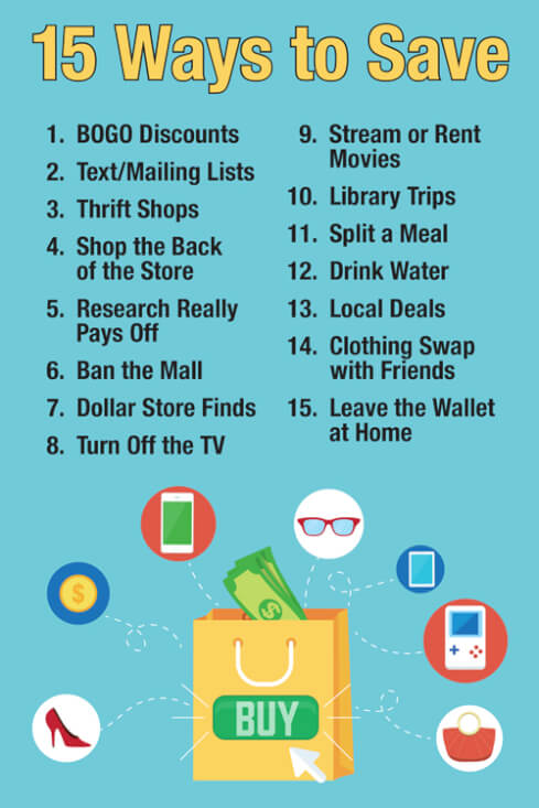 15 Ways To Save Your Money