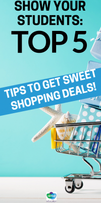 All students go shopping in one way or another. Show them how to get the best deals.