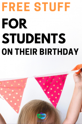 Who doesn't love free stuff? Your high school students will be thrilled with these birthday freebies at their favorite restaurants!