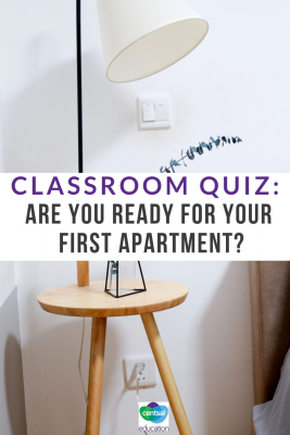 It may be a little ways off — but apartment shopping is important. The earlier your class can start thinking about this important life step, the better. #apartment #ideas #college #hacks