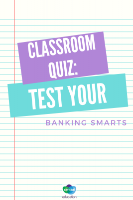 Banking can be confusing, especially to students who don't have much experience. Figure out exactly how much they know with this quiz. #quiz #students #bank