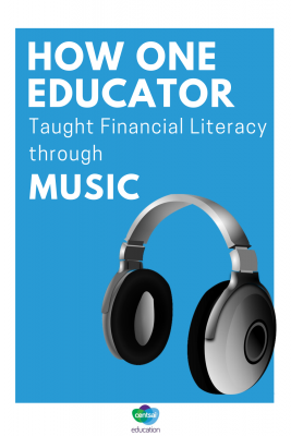 Personal finance can be learned in many ways. One music teacher found a way to mix music and money. #teaching #activities #personal #lessons #personalfinance